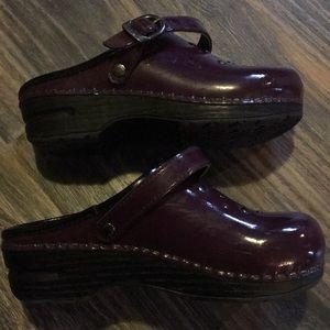 Dansko Shoes - Girls Purple Studded Danskos